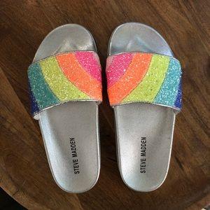 523536d19bb2 Steve Madden Shoes - Girls size 3 - Rainbow Steve Madden slides
